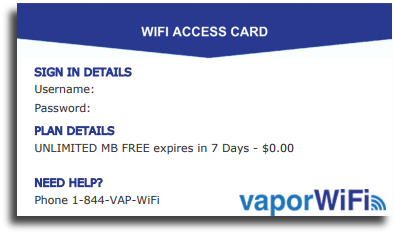 WiFi Access Card