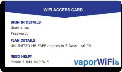 WiFi Access Card